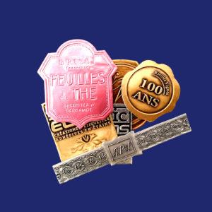 Металлические наклейки для упаковки и брендирования продукции